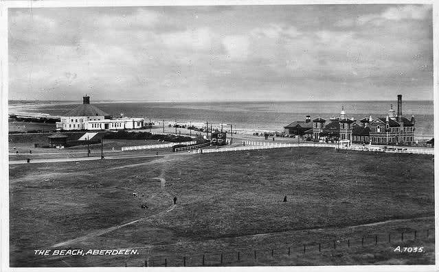 Beach 1939 Showing The Full Bathing Station Bandstand Ballroom And